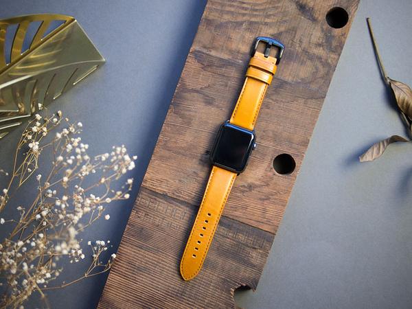 Alto Apple Watch 皮革錶帶 42/44mm - 焦糖棕