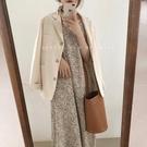 豹紋雪紡吊帶連衣裙女春季韓版搭配外套碎花打底內搭裙子【8折鉅惠】