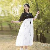 軟妹古風漢元素修身洋裝古裝日常裝改良漢服女齊胸襦裙套裝成人促銷大減價!