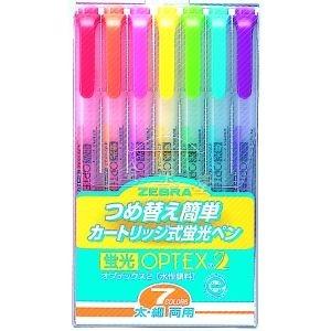 【金玉堂文具】 斑馬 ZEBRA WKT4 環保螢光筆 7色入