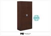 【MK億騰傢俱】AS299-04晶鑽胡桃色2.7*6尺高鞋櫃