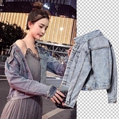 牛仔外套女新款潮春秋韓版修身小個子短款外套學生牛仔上衣服