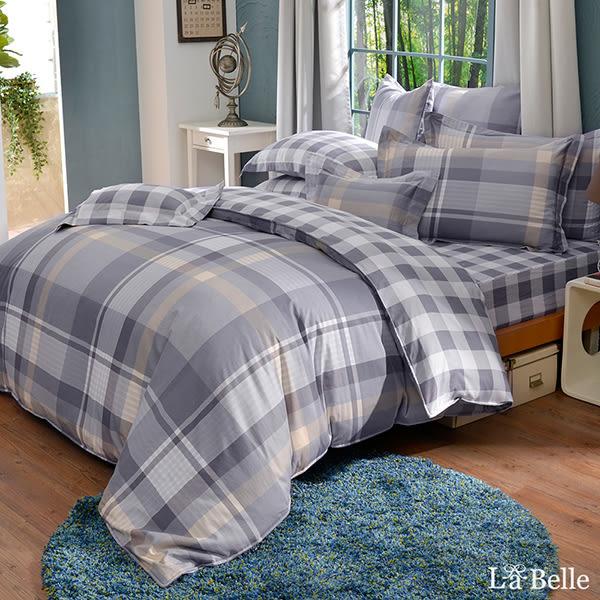 義大利La Belle《都會記憶》加大純棉防蹣抗菌吸濕排汗兩用被床包組