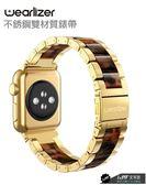 [預購] 【Wearlizer】Apple Watch 1/2/3/4/5代 42/44mm 不銹鋼 錶帶 琥珀金 附調整工具