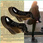 馬丁靴女英倫風復古新款學生韓版百搭平底chic秋冬季短靴加絨【非凡】