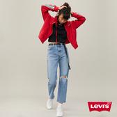 Levis 女款 Ribcage 直筒褲 / 復古高腰牛仔長褲 / 開口破壞
