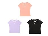 PUMA 女 圓領T(短) 流行系列CLASSICS貼身短袖T恤 歐規 黑紫粉橘-59957701