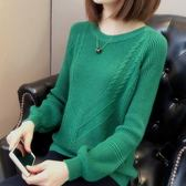 寬鬆套頭女針織衫短款女裝毛衣新款慵懶風春秋季糖果色純色打底衫