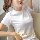 短袖t恤女裝純棉半袖寬鬆韓版素色上衣夏【繁星小鎮】