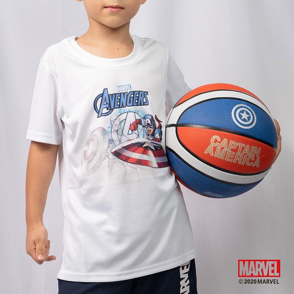買衣送球!! MARVEL漫威運動服飾 小童運動上衣 吸濕排汗 運動短袖T恤 美國隊長主題設計