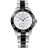 Ogival 愛其華 夜鷹氚氣燈管陶瓷機械腕錶-白 40mm 827ATGS