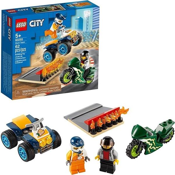 LEGO 樂高 城市特技隊60255自行車玩具 兒童涼快的建築套裝 (62件)