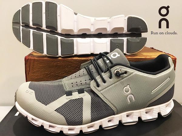 ON 瑞士品牌 超輕量 跑鞋/運動鞋 透氣快乾 ~Slate/Rock 淡漠灰(女) 買就送魔術棉巾