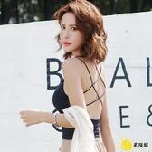 美背內衣 帶胸墊交叉美背吊帶背心女網紅爆款夏外穿內搭黑色