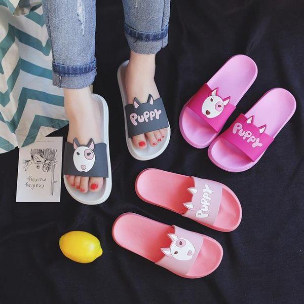 浴室拖鞋恒人拖鞋女夏室內防滑洗澡韓國 浴室可愛卡通家居家用涼拖少女