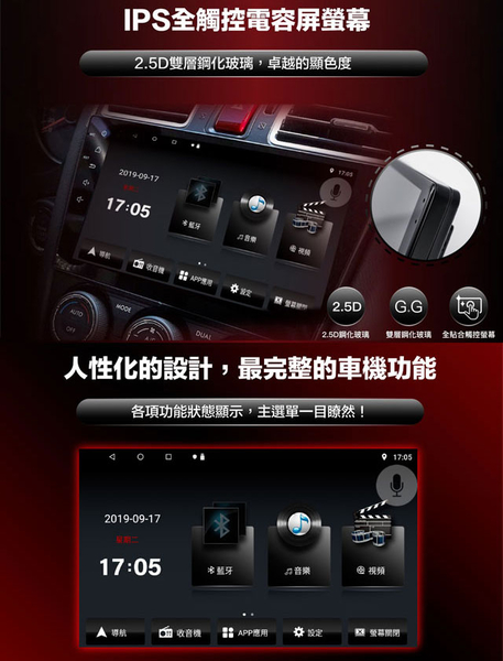 【JHY】2006~2014年三菱Outlander 專用9吋螢幕V55系列安卓機*雙聲控+藍芽+導航*8核心4+32