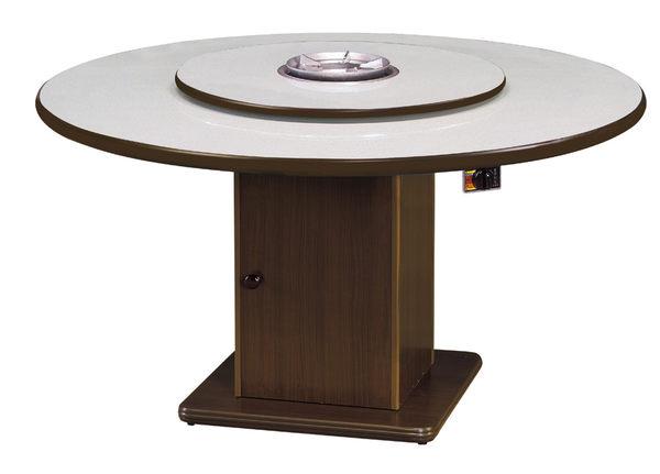 【 IS空間美學】4尺火鍋桌附轉盤(三款尺寸/兩色可選)