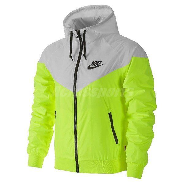 Nike 連帽外套 Windrunner 白 螢光黃 風衣 防風 夾克 女款 女裝 【PUMP306】 545909-702
