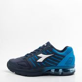 DIADORA   寬楦 男 氣墊 慢跑鞋-黑藍 DA8AMR6656
