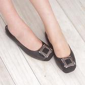 懶人鞋 娃娃鞋 黑 女鞋 真皮平底娃娃鞋《SV7100》快樂生活網