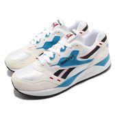 Reebok 復古慢跑鞋 Bolton 白 米白 藍 麂皮鞋面 老爹鞋 運動鞋 男鞋 【PUMP306】 M49098