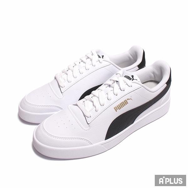 PUMA 男女 休閒鞋 SHUFFLE 白皮革後跟 金LOGO-30966803
