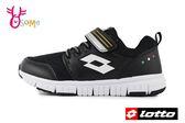 LOTTO 義大利 樂得 中大童 運動鞋 機能鞋 透氣網布 慢跑鞋 L8698#黑色◆OSOME奧森童鞋