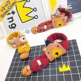 年終大清倉寶寶圍巾可愛小熊嬰兒秋冬季保暖男女兒童卡通圍脖小孩脖套0-8歲5色