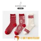 襪子女中筒襪秋冬女新年雪花圣誕元旦百搭棉厚襪【小獅子】