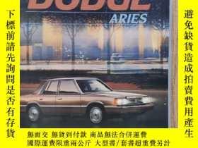 二手書博民逛書店1984年罕見美國 道奇 DODGE Aries 轎車 汽車樣本