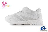 Moonstar 月星 日本機能鞋 大童 全白學生鞋 爆發力跑鞋 競速 慢跑鞋 運動鞋 I9676#白色◆OSOME奧森鞋業
