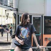 夏季新款潮塔羅牌印花短袖女寬鬆潮牌網紅同款T恤情侶裝上衣提拉米蘇