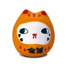 【金石工坊】七小福達摩貓-虎斑金運 招財貓 陶瓷擺飾 開運擺飾 辦公開運 公仔