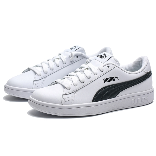 PUMA SMASAH V2 白黑 基本款 皮革 休閒鞋 情侶 男女 (布魯克林) 36521501