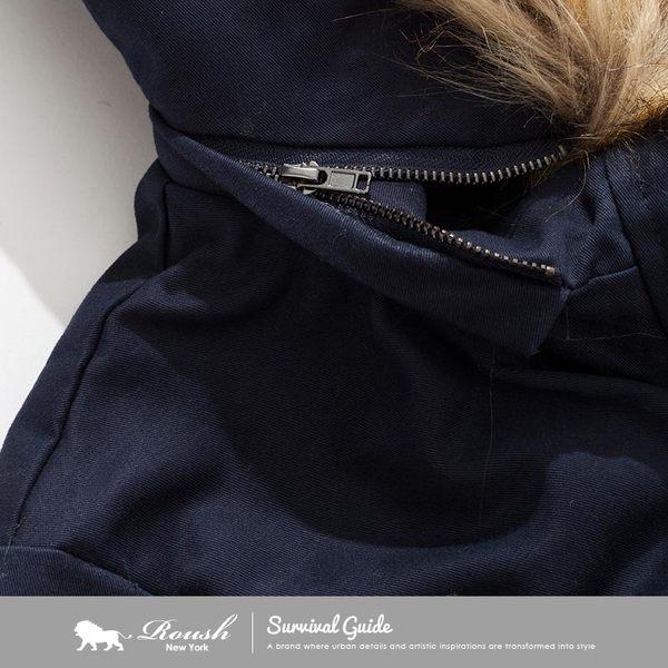 【Roush】女生毛帽泰迪熊毛鋪棉大衣 - 【615696】