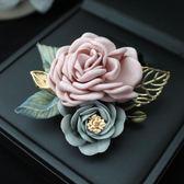 全館免運 新品典雅發飾女精品胸針扣胸花花朵飾品