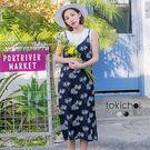 ◆ 精心挑選的花布,肩帶可自行調整長短,可搭配內著增添甜美休閒感。