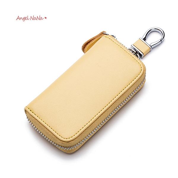 真皮鑰匙包-多功能牛皮汽車遙控器鑰匙零錢包 AngelNaNa (SMA0317)