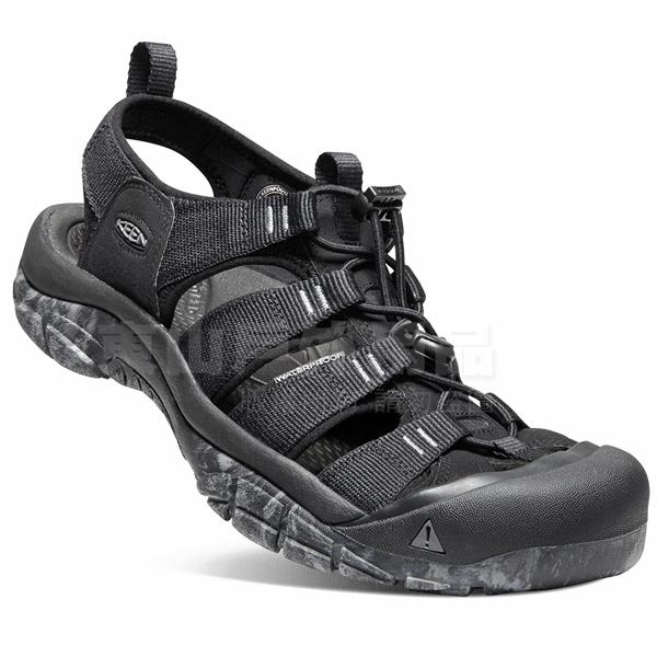 KEEN 1020285黑 NewPort H2 男戶外護趾涼鞋 水陸兩用溯溪鞋/運動健走鞋/沙灘戲水拖鞋