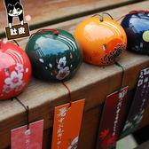 肚皮家 日式櫻花和風陶瓷風鈴日本玻璃掛飾生日禮物創意女生