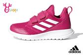 adidas ALTARUN 中童 輕量慢跑鞋 魔鬼氈 透氣運動鞋 R9309#桃紅◆OSOME奧森鞋業