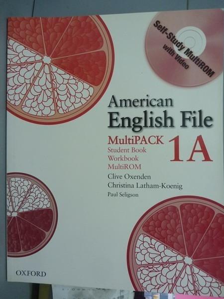 【書寶二手書T4/語言學習_PMV】American English File: MultiPack 1A_Clive