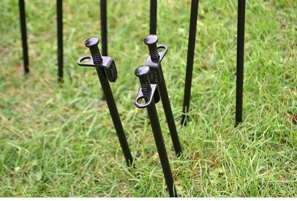 《營釘30cm》露營登山休閒帳篷必備 加長高強度鋼鐵地釘 大黑釘【TwinS伯澄】