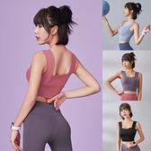 運動內衣 女外穿防震高強度背心跑步上衣美背胸罩健身瑜伽服夏薄款【快速出貨】