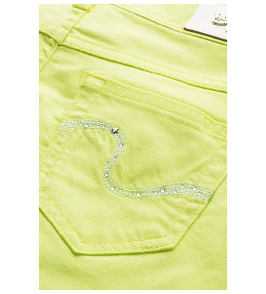 BOBSON 女款低腰膠原蛋白彩色七分褲(223-30)