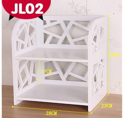 桌面置物架層架桌上小書架簡易辦公桌收納盒整理架木特價宜家組合 JL02