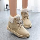 低筒雪靴-時尚簡約保暖百搭女平底靴子4色73kg36[巴黎精品]