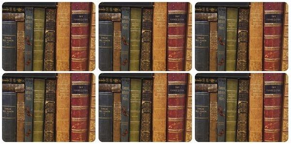 英國進口六入杯墊 - 叢書Archive Books