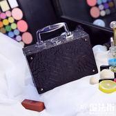 化妝包便攜簡約化妝箱手提大容量化妝品收納 魔法街