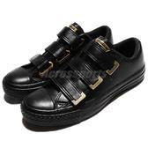 Converse 休閒鞋 Chuck Taylor All Star 3V 黑 金 帆布鞋 魔鬼氈 女鞋【PUMP306】 559906C
